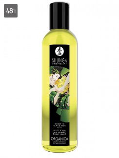Shunga Massage Oil Organica Erotic Green Tea