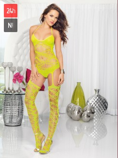 Dreamgirl - 0164 Neonowe Bodystocking