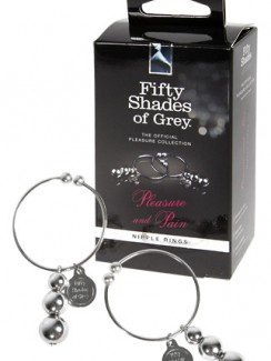 50 Shades of Grey - Zaciski na sutki Pleasure Pain Nipple Rings