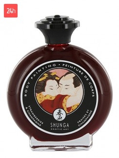 Shunga Strawberries & Champagne Bodypainting