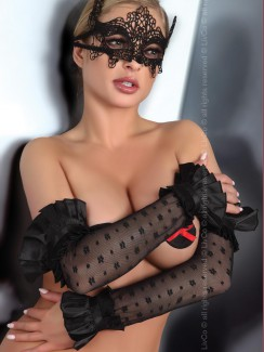 Livia Corsetti - Gloves Black Model 11 LC 28009