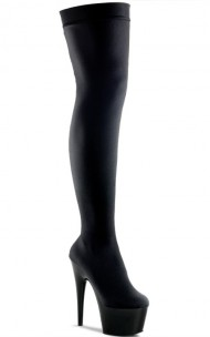 Pleaser - ADORE-3002 Black Stretch Velvet